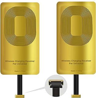 2 قطعة مستقبل QI من النوع A شاحن لاسلكي لمحول التوصيل لجهاز Samsung Galaxy J7-S5-A9-Note 4 / LG V10-Stylo 2-3-Plus/Google ...