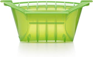 Lekue 3-4 Person Deep Steam Case with Tray and Cookbook, Green