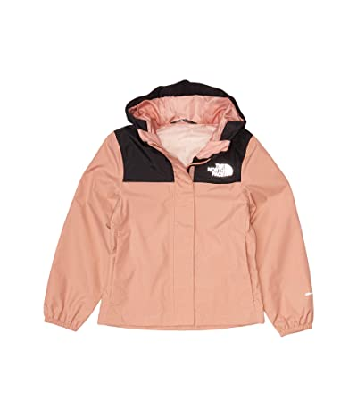 The North Face Kids Resolve Rain Jacket (Little Kids/Big Kids) (Pink Clay/TNF Black) Girl
