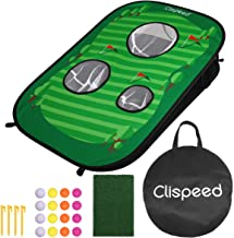 LIOOBO Clispeed Odorless Lightweight Sturdy Foldable Golf Chipping Net Golfing Target Net Cornhole Game Set for Training Outdoor Home