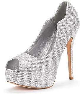 Women's Swan-25 High Heels Platform Dress Pump Shoes