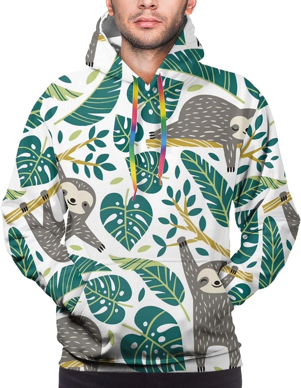 Hoodie For Men Women Unisex Cute Sloth Sleep Double-Sided 3d Sweatshirt Hoodie
