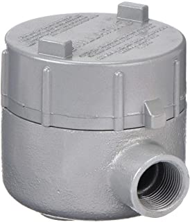 Appleton GRX100 Conduit Outlet Box 4 Side Mounted Iron Hazardous Location Style X 1 Hub Furnished with Internal Ground Screw and O-Ring