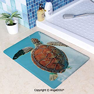 SCOXIXI Printed Non Slip Entry Door Mat Bathroom Carpet Endangered Species Sea Animal in Tropic Caribbean Waters Wildlife Area Rugs for Dining Room Living Room Kitchen.W15.7xL23.6(inch)
