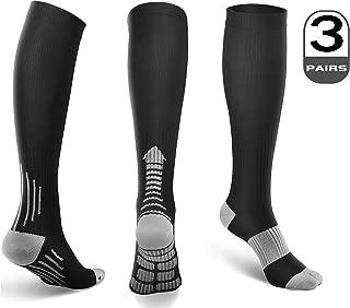 Compression Socks Men Women 15-20 mmHg (1/3/6 Pairs)