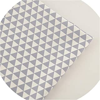 Gray Triangle Design Cotton Twill Fabric Material Soft Cloth Bed Sheet Home Textile Sewing Patchwork,32x32