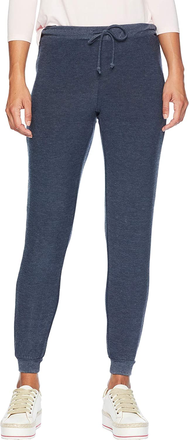 Chaser Womens Cozy Knit Cuffed Drawstring Jogger Pants