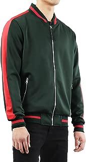 Ma Croix Mens Premium Track Bomber Jacket and Pant Two Tone Stripe Slim Fit Tracksuit