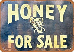 maitongzaix Honey for Sale Vintage tin Sign 20 30cm/ 7.8 11.8 inch(L W)