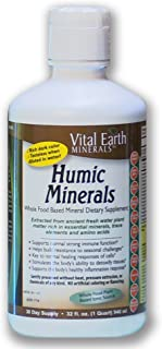 Vital Earth Minerals Humic Minerals - 32 Fl. Oz.- 1 Month Supply - Vegan Liquid Trace Mineral Multimineral Supplement - Almost Tasteless - Whole Food Plant-Based Ionic Minerals
