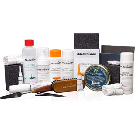 Colourlock Lederreparatur Komplettset Mild F034 Schwarz Drogerie Körperpflege