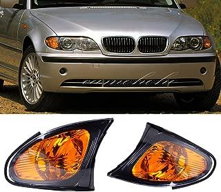 Ricoy Pair For 2002-2005 BMW E46 3-SERIES 4DR Sedan Corner Lights - Yellow Lens