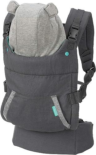 Infantino Porte bébé Cuddle Up - Porte bébé avec assise ergonomique, mode de portage ventral et dorsal, avec capuche ...