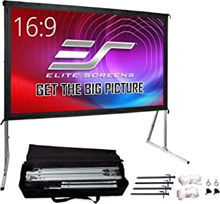 Elite Screens Yard Master 2, 135 inch Outdoor Projector Screen with Stand 16:9, 8K 4K Ultra HD 3D Fast Folding Portable Mo...
