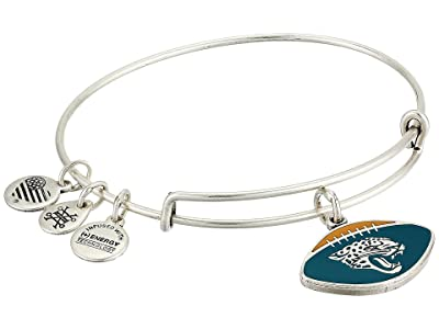 Alex and Ani Color Infusion Jacksonville Jaguars Football II Bangle (Rafaelian Silver) Bracelet