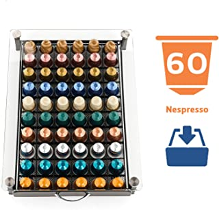 Peak Coffee Soporte de Carga Máxima 60 Bandejas Para Cápsulas Nespresso