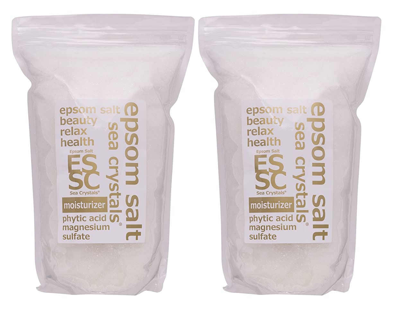 フレッシュ内なる発動機エプソムソルト 8kg (4kgX2) モイスチャライザー 入浴剤(浴用化粧品) フィチン酸配合 シークリスタルス 計量スプーン付