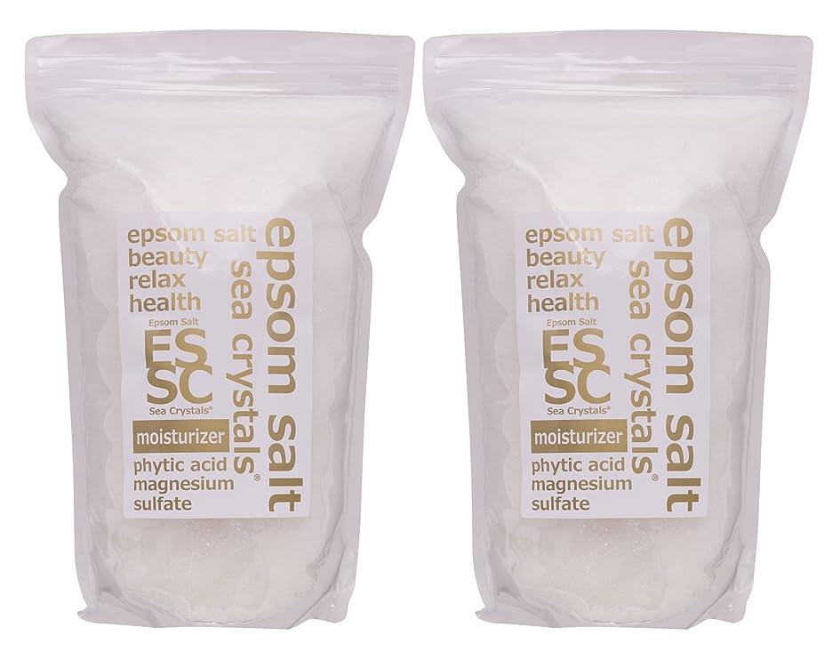 悪質な流体ティームエプソムソルト 8kg (4kgX2) モイスチャライザー 入浴剤(浴用化粧品) フィチン酸配合 シークリスタルス 計量スプーン付