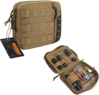 EXCELLENT ELITE SPANKER Molle Admin Pouch Tactical EDC Tool Pouch Military Nylon Holder Modular Utility Organizer Bag