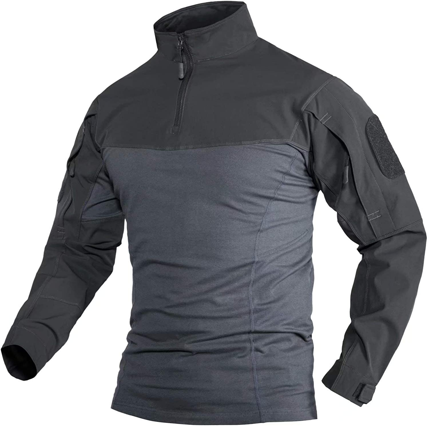 MAGCOMSEN Max 88% OFF Men's 1 4 Zip Front Military with Zipp Shirts New life Tactical