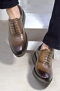20Y Eşle E802 M Erkek Hakiki Deri Klasik Ayakkabı Vizon