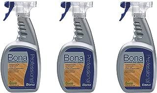 3 PACK Bona Pro Series Wm700051187 Hardwood Floor Cleaner Ready To Use, 32-Ounce Spray