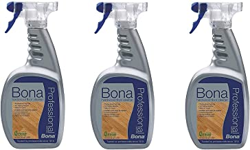 3 PACK Bona Pro Series Wm700051187 Hardwood Floor Cleaner Ready To Use, 32-Ounce Spray