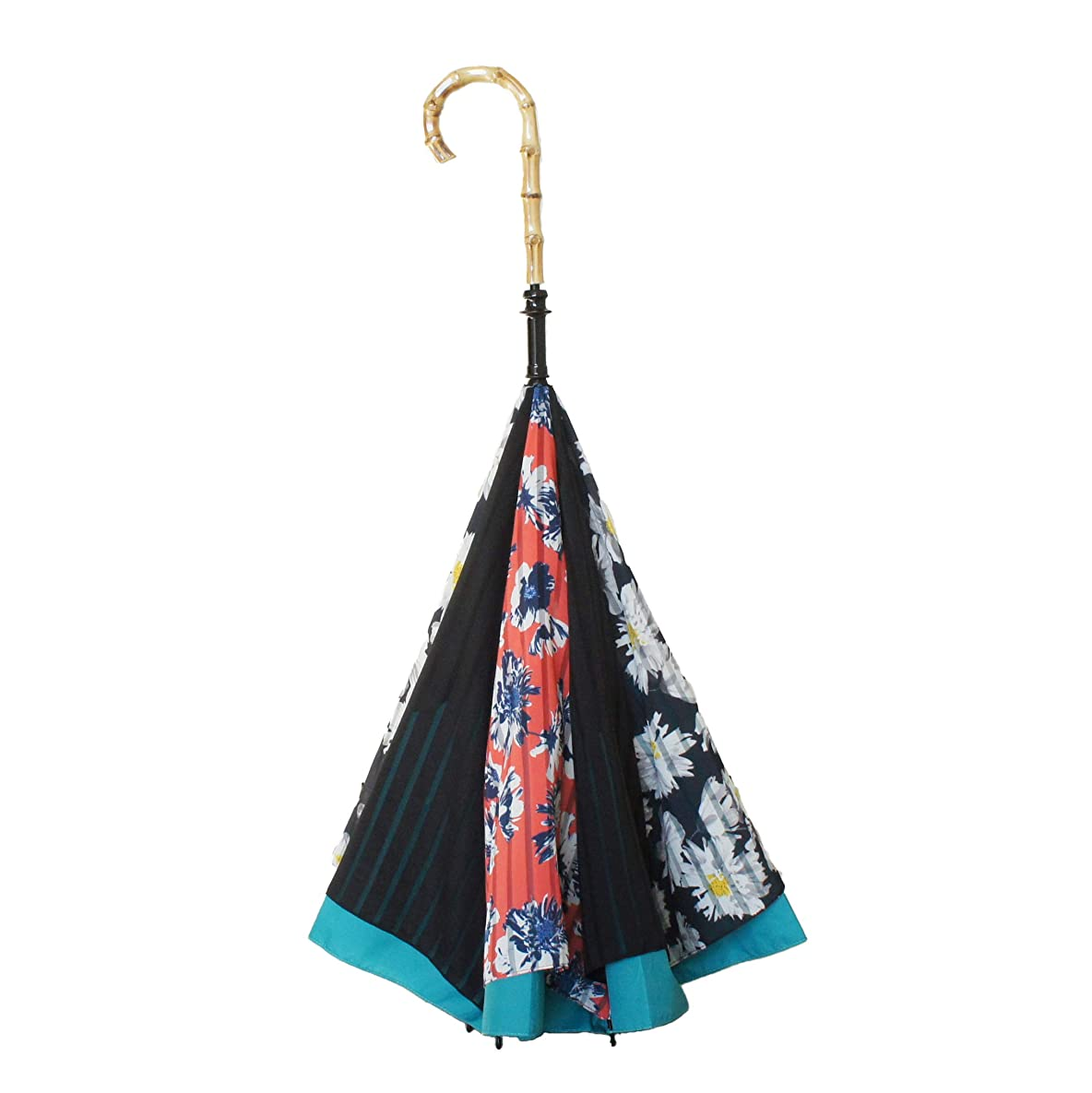 バイアスリネン放棄された【CARRY saKASA(キャリーサカサ) Advance Model (アドバンスモデル)】濡れない傘 逆折り式傘 逆さ傘 デザイン (モダンデイジー)