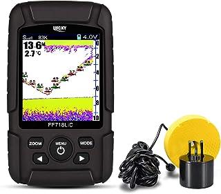 """LUCKY Buscador de Peces 2.8""""Color LCD portátil Fish Finder 200 KHz/83kHz Dual Sonar Buscador de Profundidad de detección d..."""