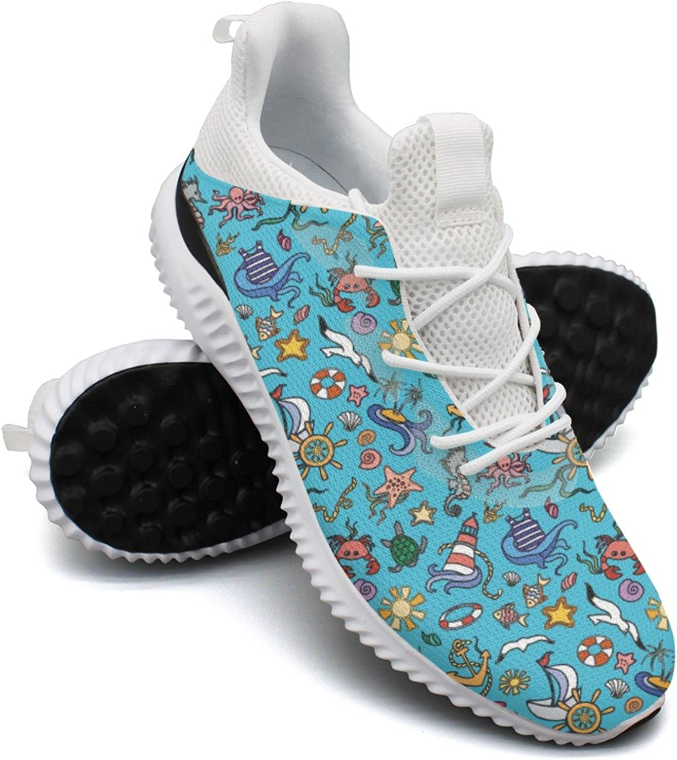 bluee Sea Animals Leisure Casual Running shoes Young Women New Unique Comfortable