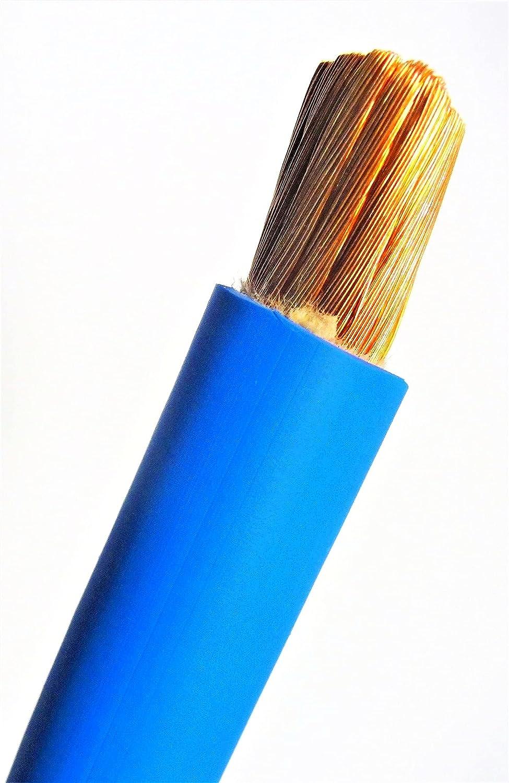 New 10' 4 AWG Gauge Welding Cable Leads Elec Battery Blue Regular dealer Copper Factory outlet