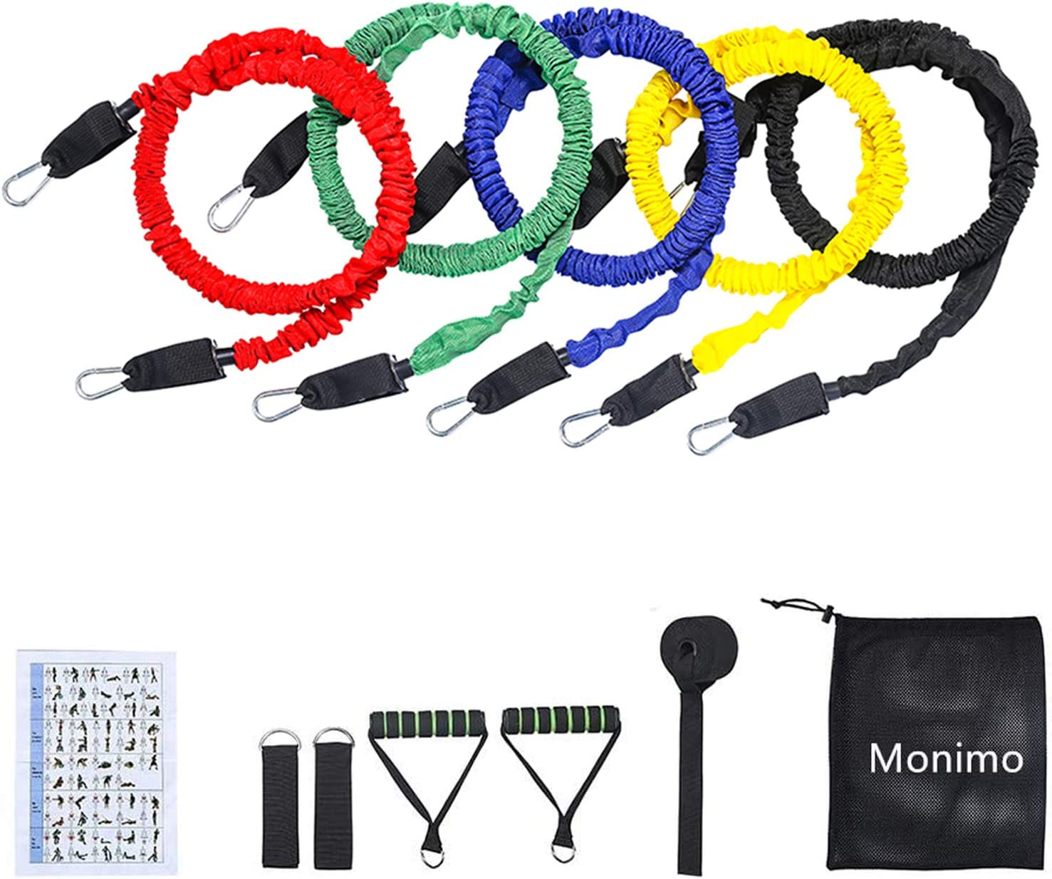 11 piece Resistance band set Brand New Fast shipping from the USA