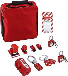 Elektrische Lockout Tagout Kit, Professionele Circuit Breaker Lockout Tagout Kit met Hasps, Loto Tags, Rode Veiligheidshan...