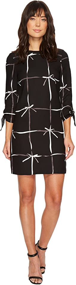 CeCe - Lattice Ribbons Tie Sleeve Dress