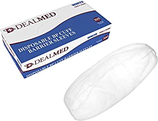 Dealmed Disposable Blood Pressure Cuff Barrier Sleeve, White, 100 Count