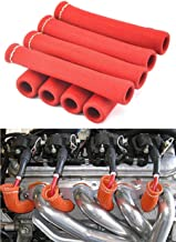 Amazingli Spark Plug Protect Boot 1600 Degree Heat Shield Thermal Protection Insulator 6 inch for Car Truck Red (Pack of 8)