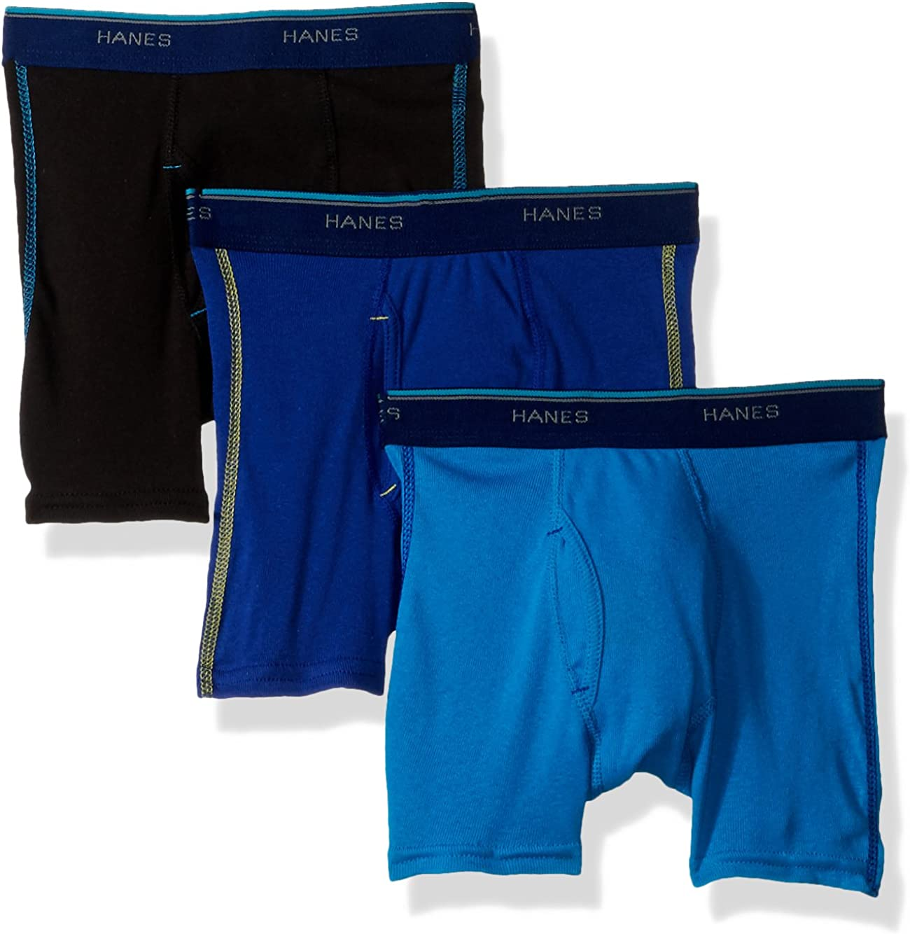 Hanes Boys' Red Label Comfort Flex Sport Inspired Boxer Briefs 3-Pack