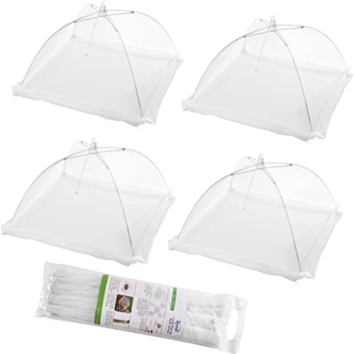 (Ensemble de 4) Grandes tentes de couverture de nourriture d'écran de maille instantanée - gardent dehors des mouches...