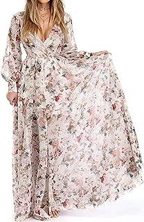 Best long pink floral dress Reviews