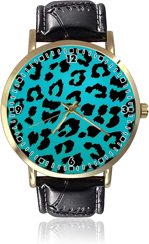 Reloj de Pulsera de Cuarzo con diseño de Leopardo, Unisex, de Piel