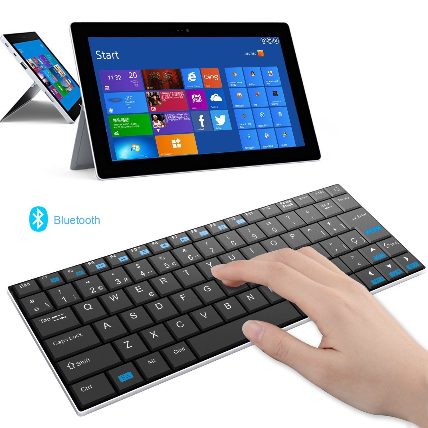 Rii Mini i9 Bluetooth (Layout ESPAÑOL) - Teclado Ultra Fino para ...