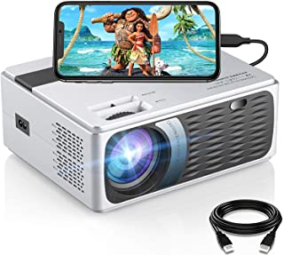 SAMMIX Movie Projector, 1080P Supported and 200 ANSI Lumen Portable Video Projector, Compatible with TV Stick, Laptop/Phon...