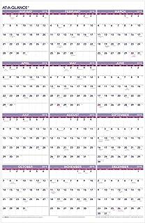 year at a glance wall calendar 2018