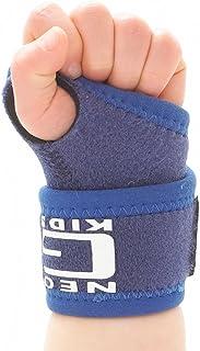 Neo G Wrist Brace برای کودکان و نوجوانان - پشتیبانی از آرتریت نوجوانان، درد مشترک، اسپری های دست، سویه ها، ورزش، ژیمناستیک، تنیس - فشرده سازی قابل تنظیم - دستگاه پزشکی کلاس 1 - یک اندازه - آبی