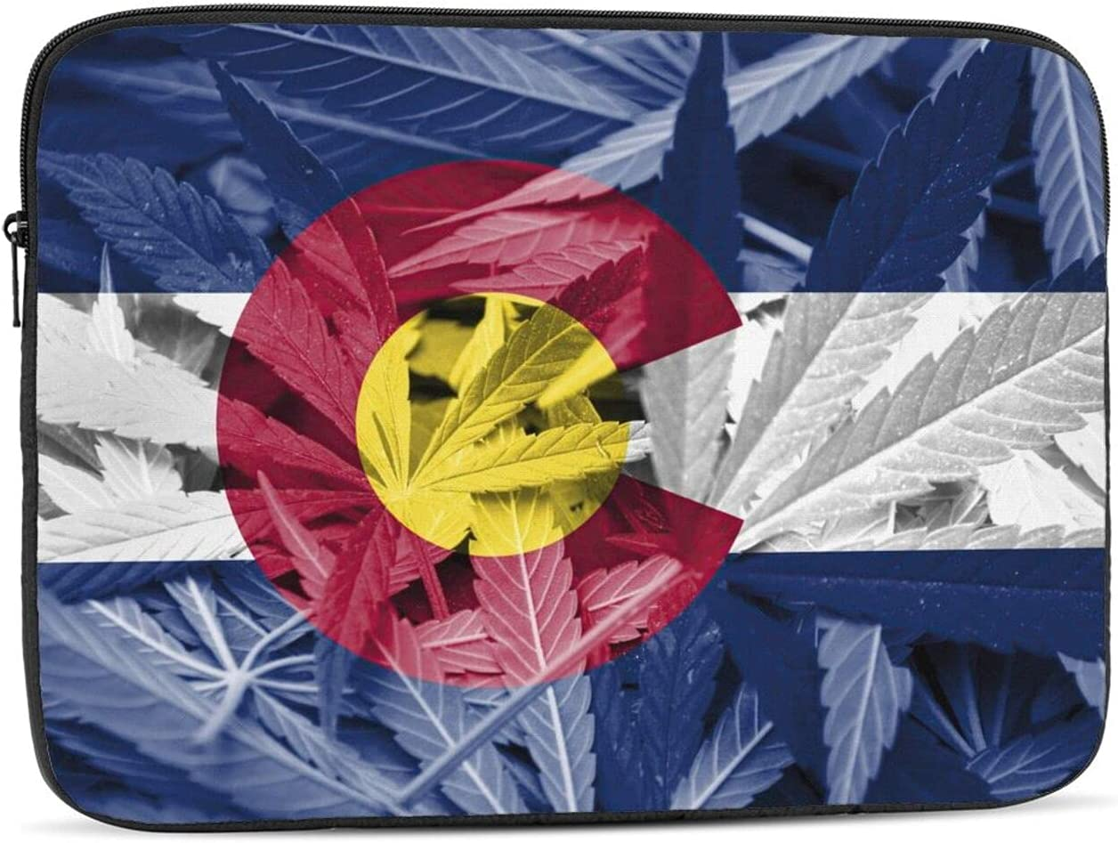 KXT Colorado At the price Flag Cannabis Laptop Cover Case Briefcase Sleeve Bombing new work Pr