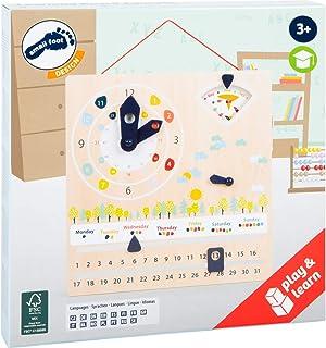small foot 11625 Pedagogisk tavla Educate av FSC-certifierat trä för lärande tid, väder, vardagar UVM, från 3 leksaker