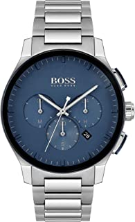 ساعة ستانلس ستيل للرجال بمينا زرقاء من هوغو بوس بلاك - 1513763