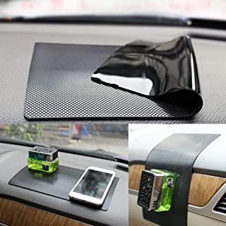 New Anti-Slip Non-Slip Mat Car Dashboard Super Sticky Pad Anti-Slip Gel Pad, Cell Phone Mount Holder Mat by ZhuTook for GPS, Sunglasses, Keys and More (Car Square Pattern, 11