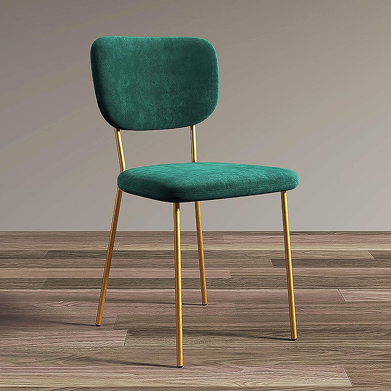 WANGFENG Iron Art Ins Wind Makeup Chair Sillón de salón Sencillo Moderno para el hogar Silla con Respaldo Individual Luz Silla de Comedor de Lujo Hotel Restaurante nórdico