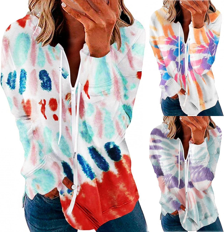 Masbird Hoodies for Women, Womens Casual Long Sleeve Hoodies Drawstring Sweatshirts Zip Up Hooded Jacket with Pockets